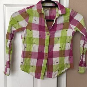 Other - Girls long sleeve. Pink, green, white with hearts